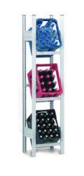 Getränkekistenregal Anbaufeld, 1750x510x335mm, lichtgrau | günstig bestellen bei assistYourwork