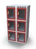 Schließfachschrank mit Sichtfenster 6 Fächer HxBxT: 1108 x 600 x 500 mm | günstig bestellen bei assistYourwork