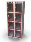 Schließfachschrank mit Sichtfenster 8 Fächer HxBxT: 1457 x 600 x 500 mm | günstig bestellen bei assistYourwork