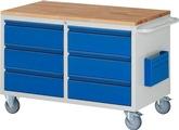 Montagewagen RAU A5-LL3.0.0I-B, mit Buche-Top, HxBxT: 790x1145x650 mm | günstig bestellen bei assistYourwork