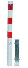 Absperrpfosten 70x70mm Modell 470FB herausnehmbar, mit Dreikantverschluß | günstig bestellen bei assistYourwork