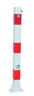 Absperrpfosten 70x70mm Modell 470FUB umlegbar, mit Dreikantverschluß | günstig bestellen bei assistYourwork