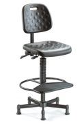 Arbeitsstuhl BM Factory 3 mit PU- Sitzfläche- & Rückenlehne gem. DIN 68877 | günstig bestellen bei assistYourwork