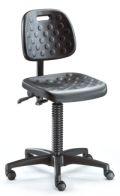 Arbeitsstuhl BM Factory 1 mit PU Sitzfläche- & Rückenlehne gem. DIN 68877 | günstig bestellen bei assistYourwork