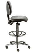 Arbeitsstuhl BM Industrie 2 mit Stoff- Sitzfläche- & Rückenlehne gem. DIN 68877 | günstig bestellen bei assistYourwork