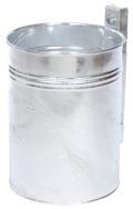 Abfallbehälter 35l Inhalt Modell 7000-10 feuerverzinkt | günstig bestellen bei assistYourwork