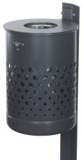 Abfallbehälter 35l Inhalt Modell 7038-00 inklusive Quadratpfosten | günstig bestellen bei assistYourwork