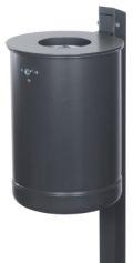 Abfallbehälter 35l Inhalt Modell 7038-15 inklusive Quadratpfosten | günstig bestellen bei assistYourwork