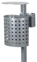 Abfallbehälter 20l Inhalt Modell 7079-00 inkl. Ascher und Pfosten | günstig bestellen bei assistYourwork