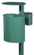 Abfallbehälter 20l Inhalt Modell 7079-01 inkl. Ascher und Pfosten | günstig bestellen bei assistYourwork