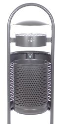Abfallbehälter 50l Inhalt Modell 7031-52 inkl. Ascher zum Einbetonieren | günstig bestellen bei assistYourwork