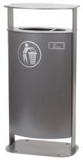Abfallbehälter 45l Inhalt Modell 7090-10 inkl. Ascher mit Bodenplatte | günstig bestellen bei assistYourwork