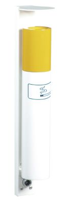 Wandascher 1,0l in Zigarettenoptik, 400mm hoch, mit Wetterschutzdach | günstig bestellen bei assistYourwork