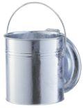 verzinkter Mülleimer 20 Liter, mit Klappdeckel | günstig bestellen bei assistYourwork