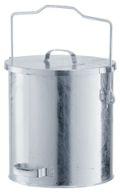 verzinkter Mülleimer 20 Liter, mit Gleitdeckel | günstig bestellen bei assistYourwork