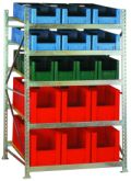 Bereitstellungsregal BSR1, Grundfeld 2200x1407x1300mm, inkl. 36 Behälter | günstig bestellen bei assistYourwork