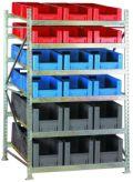 Bereitstellungsregal BSR2, Grundfeld 2200x1407x1300mm, inkl. 36 Behälter | günstig bestellen bei assistYourwork
