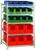 Bereitstellungsregal BSR3, Grundfeld 2200x1407x1300mm, inkl. 44 Behälter | günstig bestellen bei assistYourwork