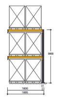 Polypal Palettenregal 3000x1855x1100mm Anbaufeld für 6 Paletten | günstig bestellen bei assistYourwork