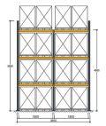 Polypal Palettenregal 4500x3855x1100mm 16 Palettenstellplätze | günstig bestellen bei assistYourwork