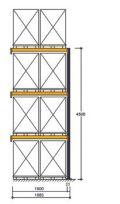 Polypal Palettenregal 4000x1855x1100mm Anbaufeld für 8 Paletten | günstig bestellen bei assistYourwork