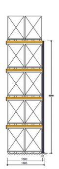 Polypal Palettenregal 5500x1855x1100mm Anbaufeld für 10 Paletten | günstig bestellen bei assistYourwork