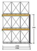Polypal Palettenregal 3000x2785x1100mm Anbaufeld für 9 Paletten | günstig bestellen bei assistYourwork