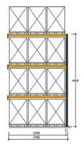 Polypal Palettenregal 4500x2785x1100mm Anbaufeld für 12 Paletten | günstig bestellen bei assistYourwork
