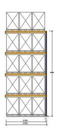Polypal Palettenregal 5500x2785x1100mm Anbaufeld für 15 Paletten | günstig bestellen bei assistYourwork
