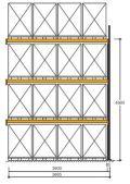Polypal Palettenregal 4500x3685x1100mm Anbaufeld für 16 Paletten | günstig bestellen bei assistYourwork