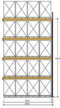 Polypal Palettenregal 5500x3685x1100mm Anbaufeld für 20 Paletten | günstig bestellen bei assistYourwork