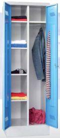 Kleider-Wäscheschrank 1850x600x500mm auf Sockel, durchgehende Mitteltrennwand | günstig bestellen bei assistYourwork