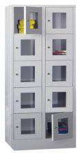 Fächerschrank 2x5 Fächer á 400 mm Sichtfenster, 1850mm Gesamthöhe | günstig bestellen bei assistYourwork