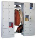 Offene Garderobe mit 4 Schließfachreihen á 5 Fächer, 300mm Abteilbreite | günstig bestellen bei assistYourwork