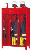 Feuerwehrschrank mit 3 Abteilen á 400 mm 2100x1230x500mm, mit Schließfach und Einwurfschlitz | günstig bestellen bei assistYourwork