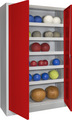 Sportschrank 1950x1000x500mm, mit 5 Ballböden | günstig bestellen bei assistYourwork