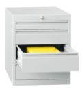 Schubladenschrank 600x500x600mm 3x100mm, 1x200mm Schubladen, á 50kg | günstig bestellen bei assistYourwork