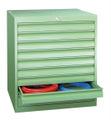 Schubladenschrank 800x715x600mm 8x75mm, 1x100mm Schubladen, á 50kg | günstig bestellen bei assistYourwork
