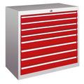 Schubladenschrank 800x715x600mm 4x75mm, 4x100mm Schubladen, á 50kg | günstig bestellen bei assistYourwork