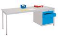 Werktisch 1700x800x720mm, rechts Schubladenblock 1x75 1x125, 1x300mm | günstig bestellen bei assistYourwork
