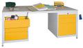 Werktisch 1700x800x720mm, links 1x150, 2x175mm, rechts 1x75,1x125,1x300mm | günstig bestellen bei assistYourwork