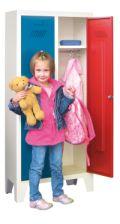 Kinder-Spind 1300x530x300mm, 2 Abteile, für Kindergartenkinder | günstig bestellen bei assistYourwork
