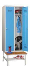 PAVOY Schul-Spind 1850x630x500mm, 2 Abteile, mit Sitzbank | günstig bestellen bei assistYourwork