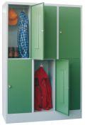Fächerschrank mit 3 x 2 Fächern á 400 mm Abteilbreite, 1850mm Gesamthöhe | günstig bestellen bei assistYourwork