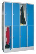 Fächerschrank mit 4 x 2 Fächern á 300 mm Abteilbreite, 1850mm Gesamthöhe | günstig bestellen bei assistYourwork