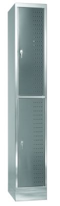Schließfachschrank aus Edelstahl 1950x325x500mm, 1 Abteil 300mm | günstig bestellen bei assistYourwork
