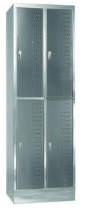 Schließfachschrank aus Edelstahl 1950x625x500mm, 2 Abteile á 300mm | günstig bestellen bei assistYourwork
