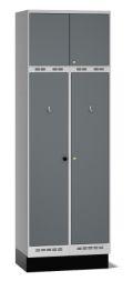 Einsatzschrank Pro A80 mit Oberschrank 2480x800x550mm, 2 Abteile | günstig bestellen bei assistYourwork