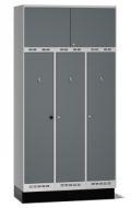 Einsatzschrank Pro D120 mit Oberschrank 2480x1200x550mm, 3 Abteile | günstig bestellen bei assistYourwork