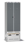 Einsatzschrank Pro E80 mit Auszug 2100x800x550mm, 2 Abteile | günstig bestellen bei assistYourwork